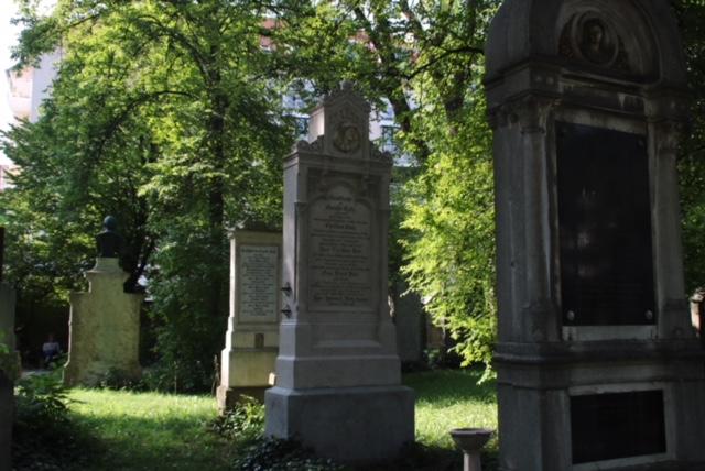 Grabsteine auf dem Alten Südlichen Friedhof in München