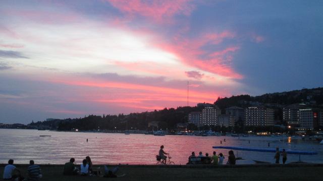 Sonnenuntergang in Portoroz