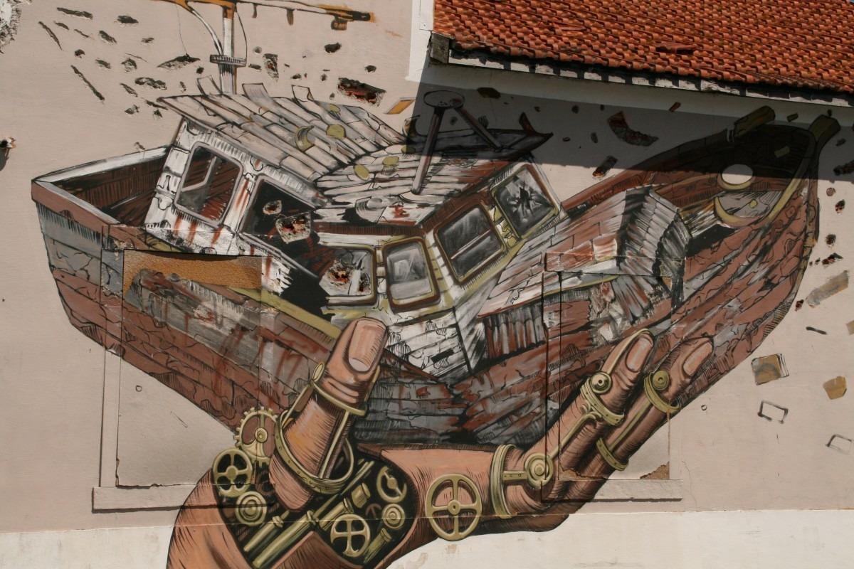 auch das ist Street Art in Lissabon