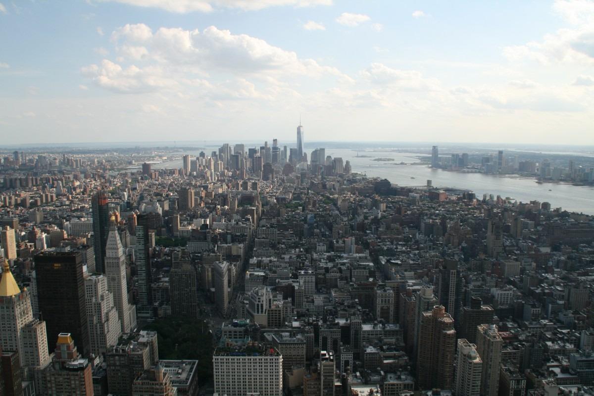 Blick auf Downtown Manhattan