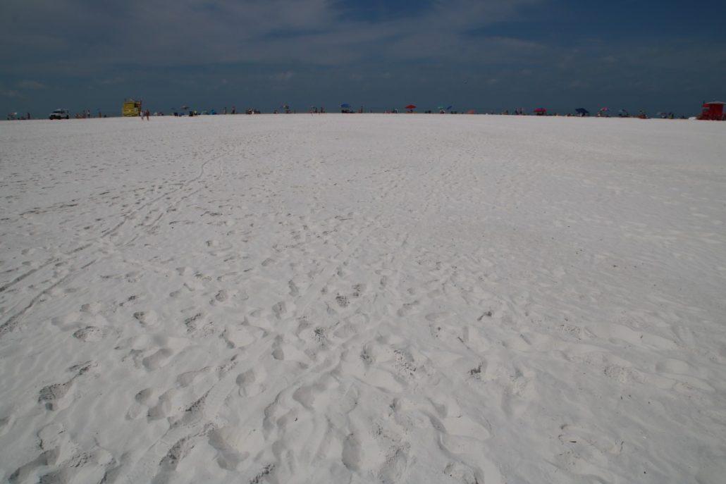 Traumhafter Sand am Siesta Key Beach