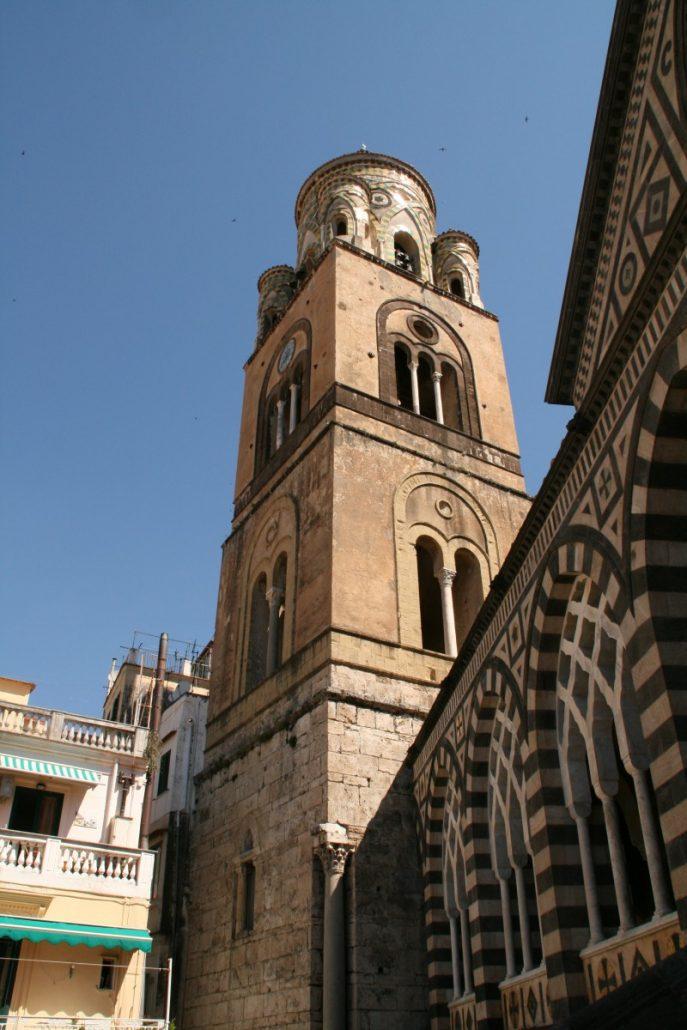 Turm des Doms in Amalfi an der Amalfiküste