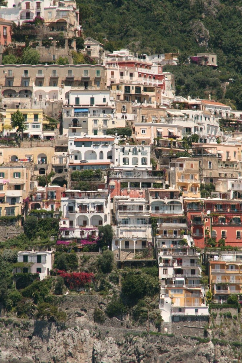 Häuser in Positano an der Amalfiküste