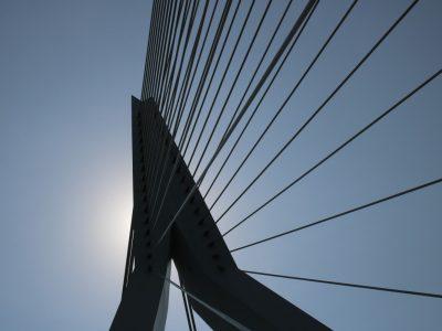 Detail der Erasmusbrücke