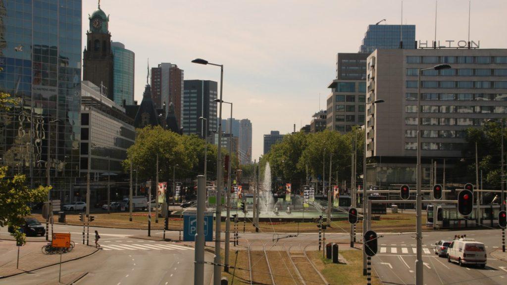 Blick auf die Straße Weena in Rotterdam