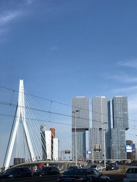 Erasmusbrücke und Kop van Zuid