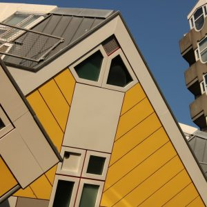 Die berühmten gelben Kubushäuser in Rotterdam