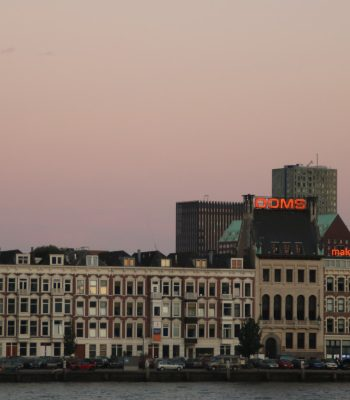 Rotterdam im Sonnenuntergang
