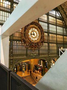 die berühmte Uhr im Musée d' Orsay