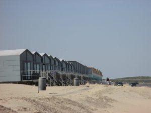 Strandhäuser am Strand von Domburg