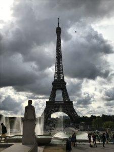 Blick auf den Eiffelturm vom Trocadero aus
