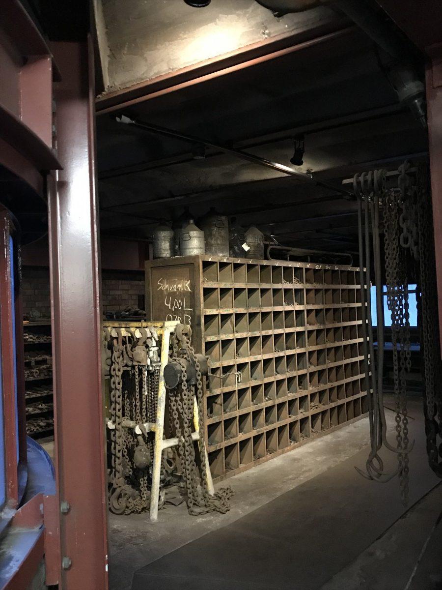 Teil der Werkstatt auf der Zeche Zollverein