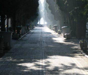 besondere Stimmung auf dem Friedhof San Michele