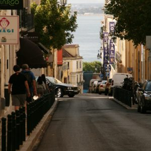 Straße im Chiado, Lissabon