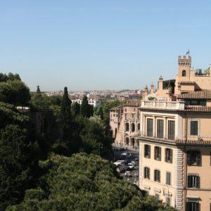 Aussicht von der Dachterrasse des Monumento Nazionale a Vittorio Emanuele II