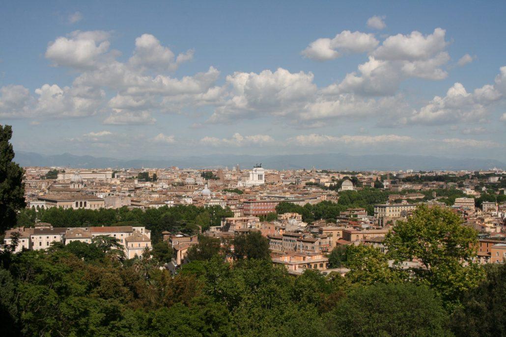 Aussicht auf Rom vom Gianicolo