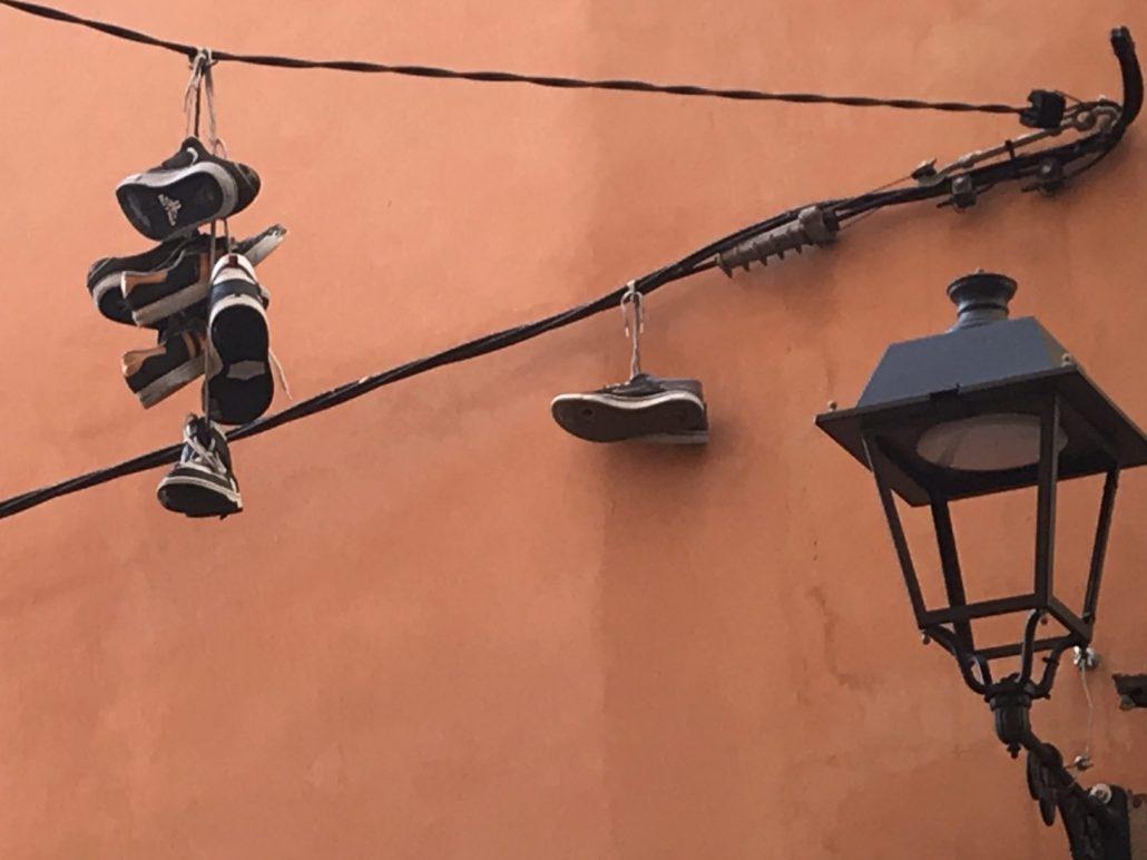Shoefiti in Palma