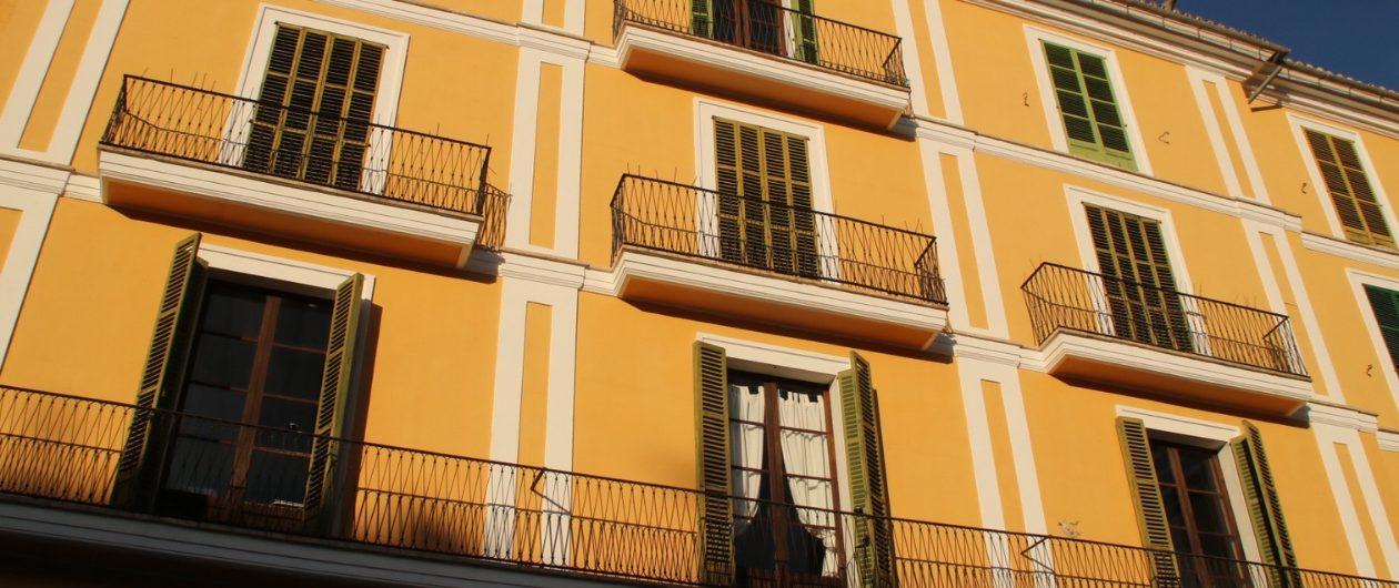 Spanische Balkone in Palma de Mallorca
