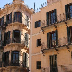 Häuserfassaden in Palma