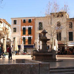 Placa Constitutión mit Brunnen