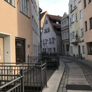 enge Gassen in der Augsburger Altstadt