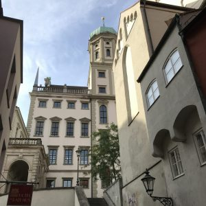 hintere Fassade des Augsburger Rathauses