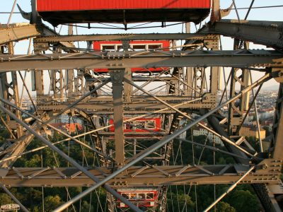 Berühmtes Riesenrad auf dem Prater in Wien