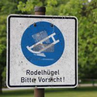 Rodelhügel im Westpark München