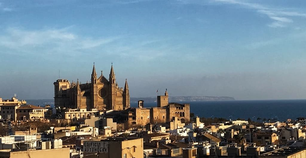 Blick auf die Cathedrale von Palma de Mallorca