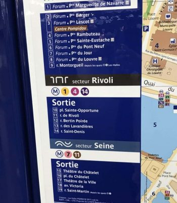 Metro-Plan Paris Le Chatelet