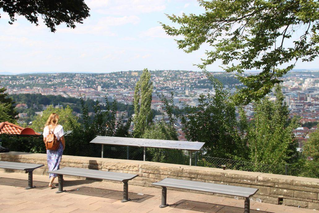 Aussicht auf Stuttgart vom Aussichtspunkt Haigst