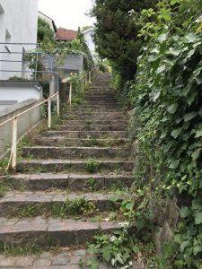 steile Treppe im Treppenviertel Blankenese