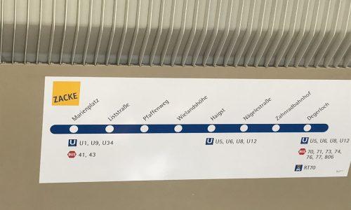 """Haltestellen der Zahnradbahn """"Zacke"""" in Stuttgart"""