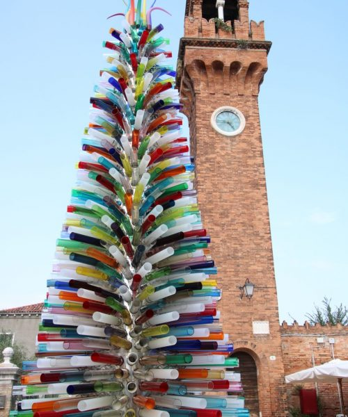 Glas-Tannenbaum auf Murano