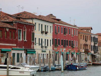 Häuser am Canal Grande di Murano