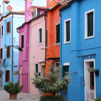 bunte Fassaden in Burano