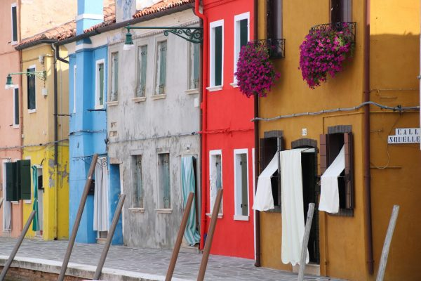Farbloses Haus in Burano