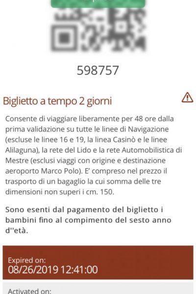 Ticket Vaporetto 2 Tage