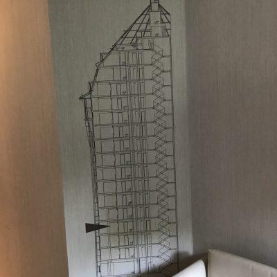 Skizze des Wasserturms im Schanzenpark