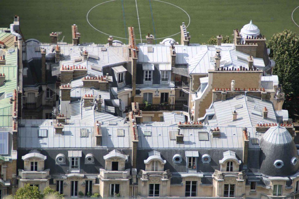 Blick auf die Dächer von Paris