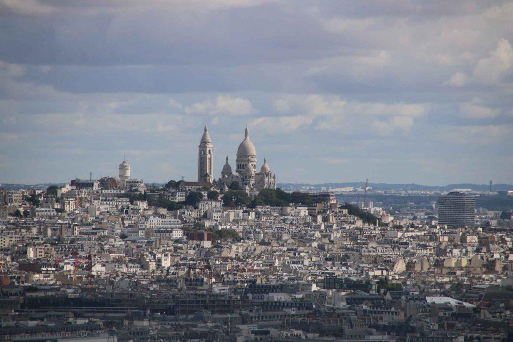 Toller Blick auf Sacre Coeur in Paris