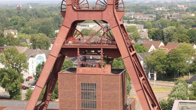 Zeche Zollverein Blick aufs Ruhrgebiet