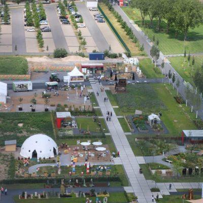 Blick vom Förderturm auf das LAGA-Gelände