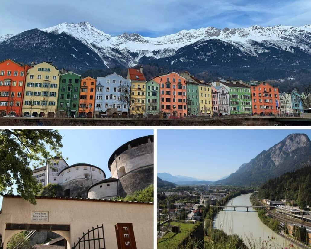 Fotos von Innsbruck, Festung Kufstein und Aussicht von der Festung auf den Lech