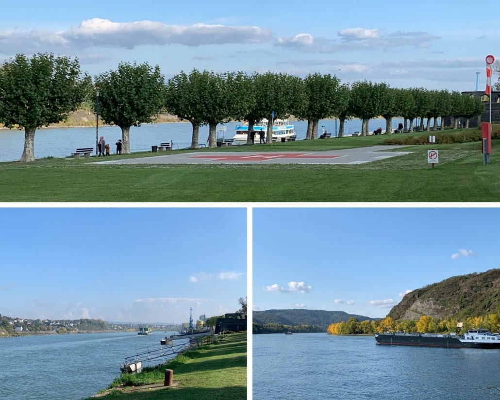 Der Rhein in Andernach